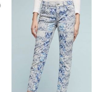 Anthropologie Stet Skinny Midrise Patchwork Jeans